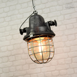 Lampa industrialna ORPW-125 MESKO z lat 70'