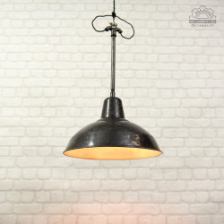 Lampa industrialna Siemens z lat 30'