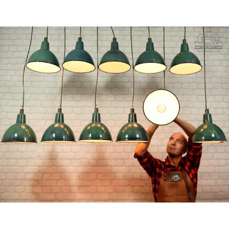 Lampy emaliowane OBg-1 z lat 70'