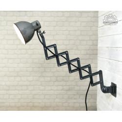 Emaliowana lampa nożycowa Rech