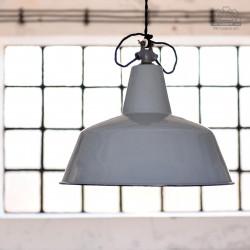 Niemiecka lampa emaliowana z lat 50'
