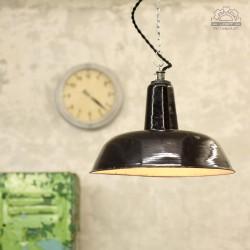 Lampa industrialna emaliowana z lat 30'