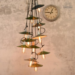 Emaliowane lampy talerzykowe