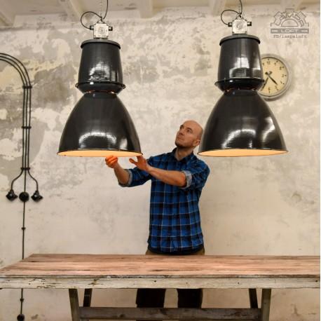"""Ogromna lampy industrialne Elektrosvit z lat 60"""""""