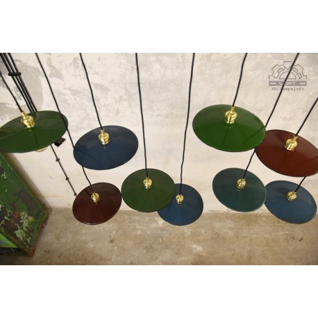 Lampy industrialne z lat 60' talerzyki