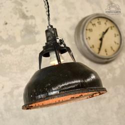 Emaliowana lampa industrialna z lat 70'