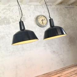 Węgierskie lampy industrialne EKA z lat 50'